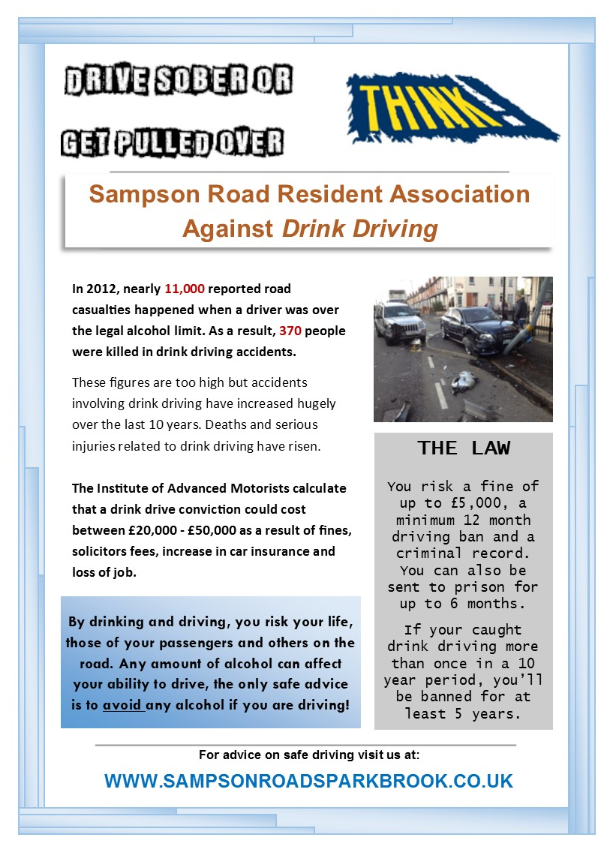 Drink driving poster